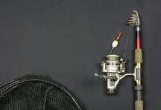 Pesca da rotação e rede de pesca foto de stock royalty free