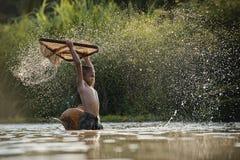 Pesca das crianças Fotos de Stock Royalty Free