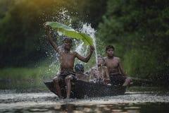Pesca das crianças Imagem de Stock