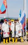 A ?a pesca de Baikal Foto de Stock Royalty Free