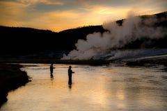 Pesca de Firehole Imagens de Stock Royalty Free