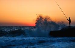 Pesca de Ikaria Karavostamo Fotos de archivo libres de regalías