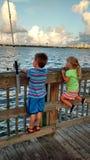 Pesca de la bahía de Daytona Fotografía de archivo libre de regalías