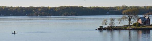 Pesca de la cabaña Foto de archivo libre de regalías