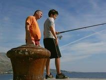 Pesca de la familia Foto de archivo libre de regalías
