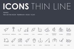 PESCA de la línea fina iconos libre illustration