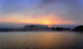 Pesca de la mañana Fotografía de archivo libre de regalías
