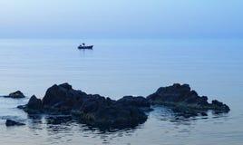 Pesca de la mañana fotos de archivo