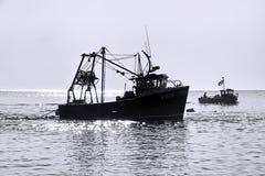 Pesca de la mañana - Lyme Regis fotografía de archivo