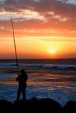 Pesca de la madrugada Fotografía de archivo libre de regalías