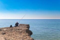 Pesca de la persona mayor Imágenes de archivo libres de regalías