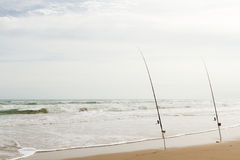 Pesca de la playa Fotografía de archivo