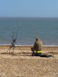 Pesca de la playa Foto de archivo libre de regalías