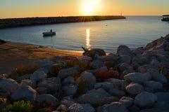Pesca de la salida del sol Foto de archivo libre de regalías