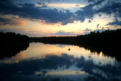 Pesca de la tarde Imagen de archivo libre de regalías