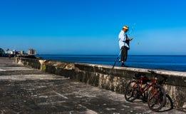 Pesca de la tarde Fotos de archivo libres de regalías