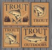 Pesca de la trucha Fotografía de archivo libre de regalías