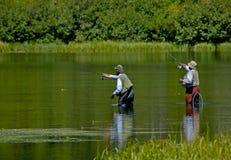 Pesca de los hombres Fotografía de archivo libre de regalías