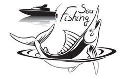 Pesca de mar ilustração royalty free