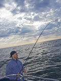 Pesca de mar do barco imagens de stock