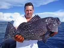 Pesca de mar profundo Peixes da garoupa Fotografia de Stock Royalty Free