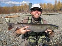 Pesca de mosca Fotografia de Stock