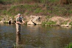 Pesca de mosca Fotografía de archivo libre de regalías