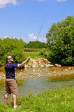 Pesca de mosca imagenes de archivo