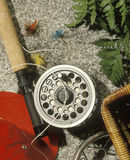 Pesca de mosca Fotos de archivo libres de regalías