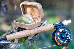Pesca de mosca Imágenes de archivo libres de regalías