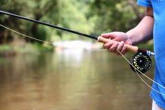 Pesca de mosca foto de archivo