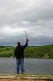 Pesca de mosca Imagem de Stock Royalty Free