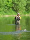 Pesca de mosca Foto de archivo libre de regalías