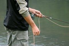 Pesca de mosca Foto de Stock
