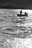 Pesca de mosca en Escocia fotografía de archivo