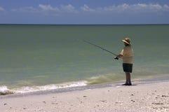Pesca de resaca Imágenes de archivo libres de regalías