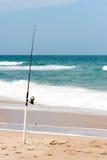 Pesca de resaca Foto de archivo libre de regalías