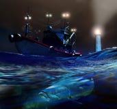 Pesca de saída ilustração royalty free