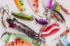 Pesca de señuelo, cuchara del cebo fotos de archivo