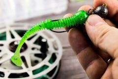 Pesca de señuelo en la mano Imagen de archivo