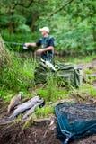 Pesca dei 2 fotografia stock