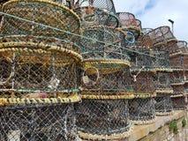 Pesca dei vasi di fissatura fotografia stock