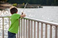 Pesca del bambino Immagine Stock