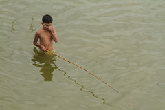 Pesca del bambino Fotografia Stock Libera da Diritti