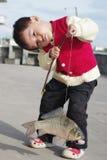 Pesca del bebé Imagen de archivo libre de regalías