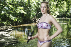 Pesca del bikini Fotografie Stock