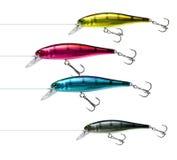 Pesca del cmyk de los señuelos Imagen de archivo