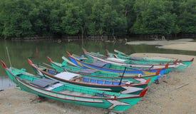 pesca del crogiolo di legno boatishing di barca immagine stock