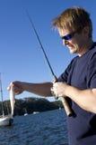 Pesca del día de fiesta Fotos de archivo libres de regalías