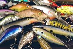 Pesca del detalle de los señuelos Fotos de archivo libres de regalías